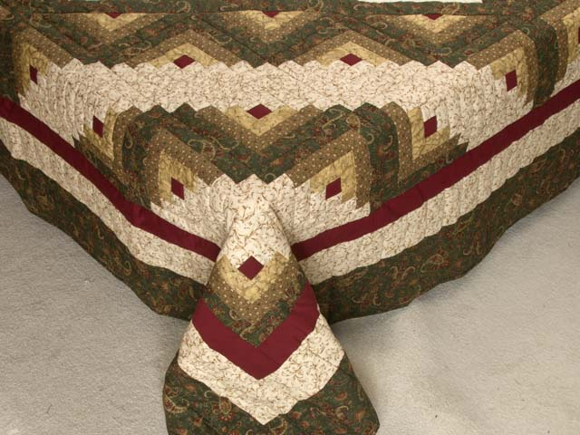 Earthtones Lone Star Log Cabin Quilt Photo 7