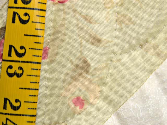 King Sea-foam Green and Rose Spring Basket Quilt Photo 8