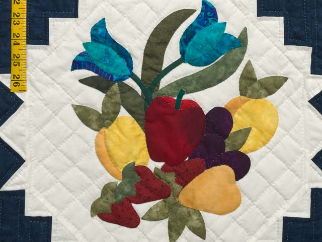 King Navy and Multicolor New Wine Quilt Photo 5