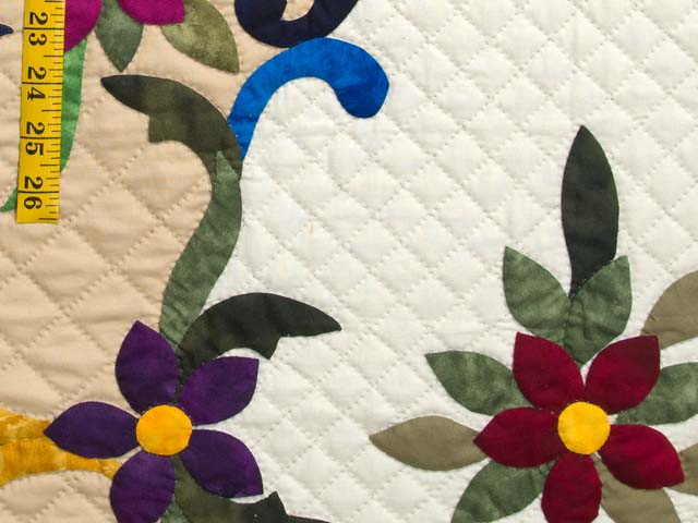 Moss Brown and Multicolor Regal Rose Quilt Photo 5