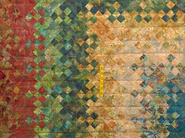Golden Multicolor Blooming Nine Patch Quilt Photo 4