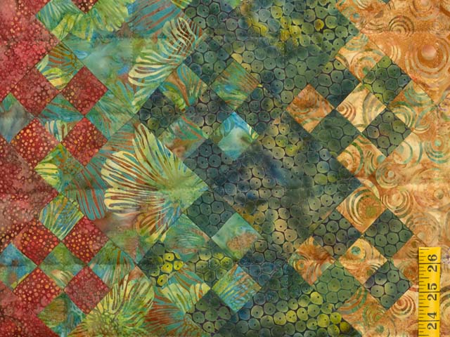 Golden Multicolor Blooming Nine Patch Quilt Photo 6