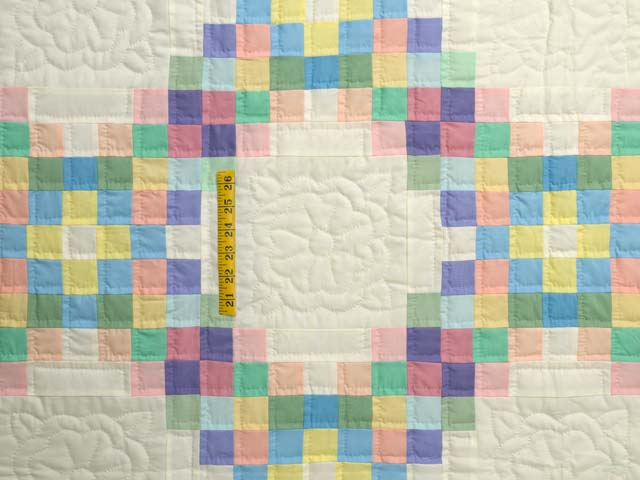 Pastel Triple Irish Chain Quilt Photo 4