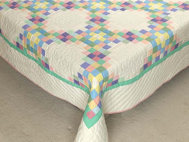 Pastel Triple Irish Chain Quilt Photo 7