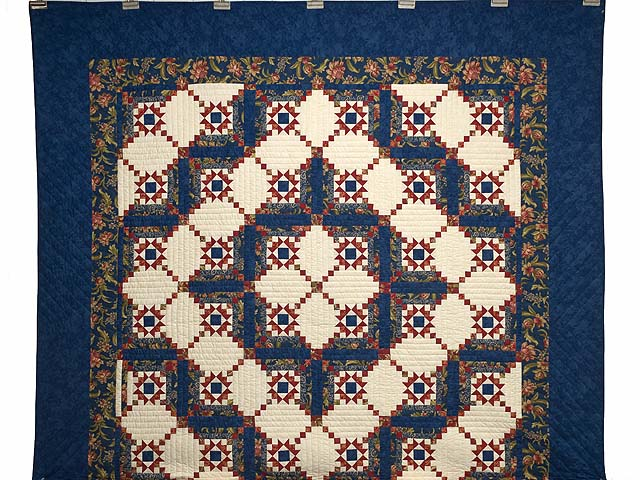 Blue Rust and Ivory Star in the Cabin Quilt Photo 2