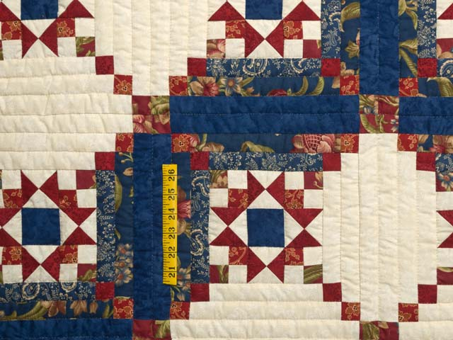 Blue Rust and Ivory Star in the Cabin Quilt Photo 4