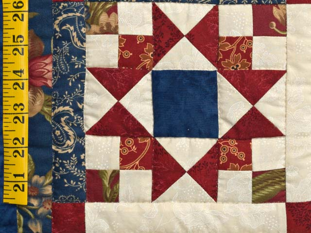 Blue Rust and Ivory Star in the Cabin Quilt Photo 5