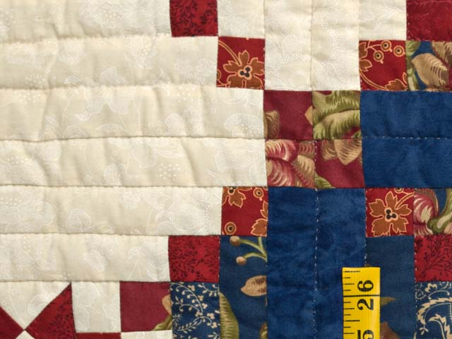 Blue Rust and Ivory Star in the Cabin Quilt Photo 6