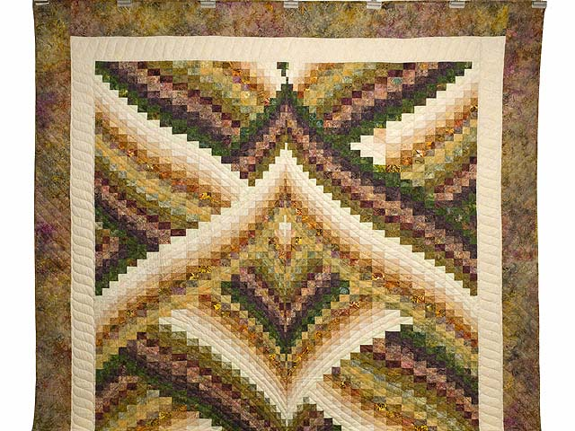 Plum and Gold Lightning Strikes Quilt Photo 2
