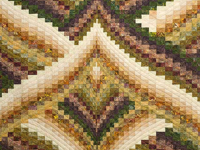 Plum and Gold Lightning Strikes Quilt Photo 3