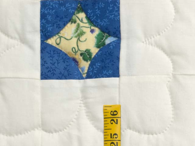 Blue Yellow and Cream Dahlia Star Quilt Photo 5