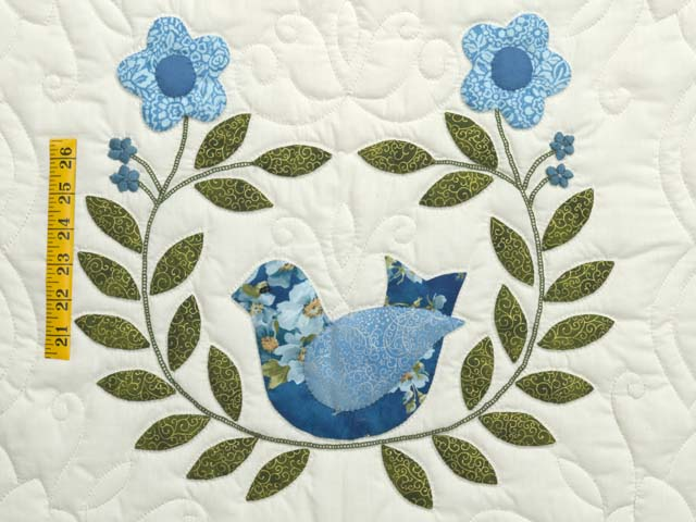 Blue and Green Applique Album Sampler Quilt Photo 4