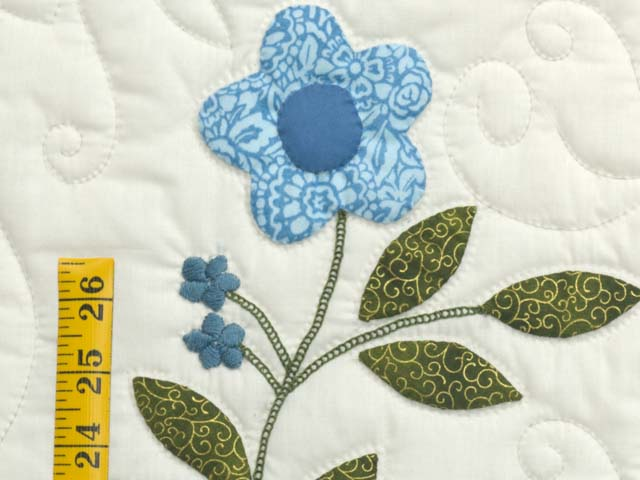 Blue and Green Applique Album Sampler Quilt Photo 5