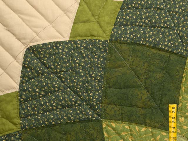 Green and Tan Giant Dahlia Quilt Photo 5