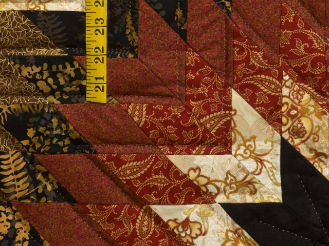 Red Gold and Black Compass Star Photo 6