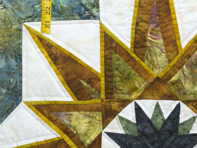 King Teal Navy and Gold Medallion Star Quilt Photo 5