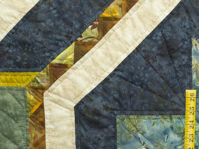 King Teal Navy and Gold Medallion Star Quilt Photo 6
