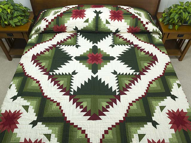 King Green and Red Eureka Quilt Photo 1