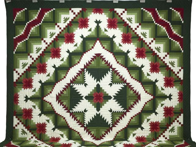 King Green and Red Eureka Quilt Photo 2