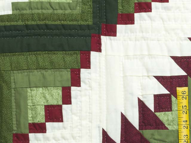 King Green and Red Eureka Quilt Photo 6