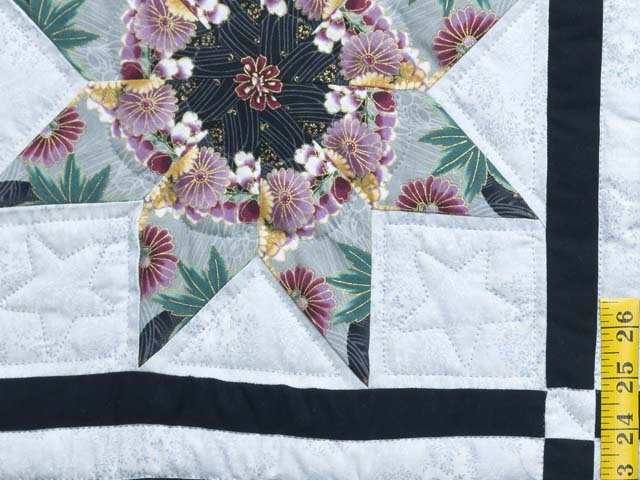 Black and Multicolor Stack and Whack Stars Quilt Photo 5
