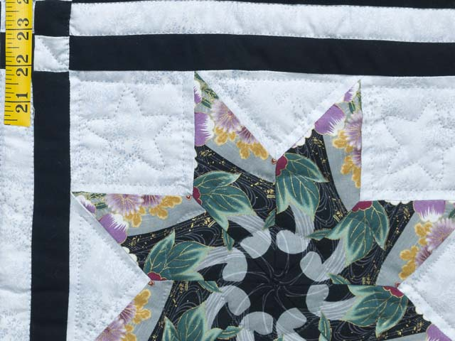 Black and Multicolor Stack and Whack Stars Quilt Photo 6