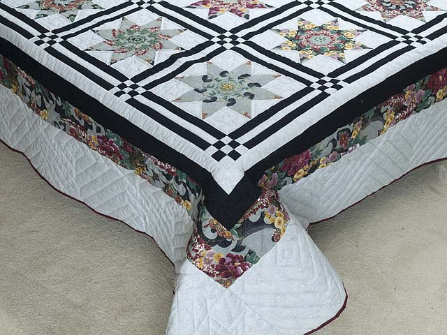 Black and Multicolor Stack and Whack Stars Quilt Photo 7