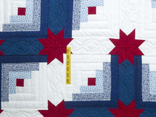 Red White and Blue Colorado Log Cabin Quilt Photo 4