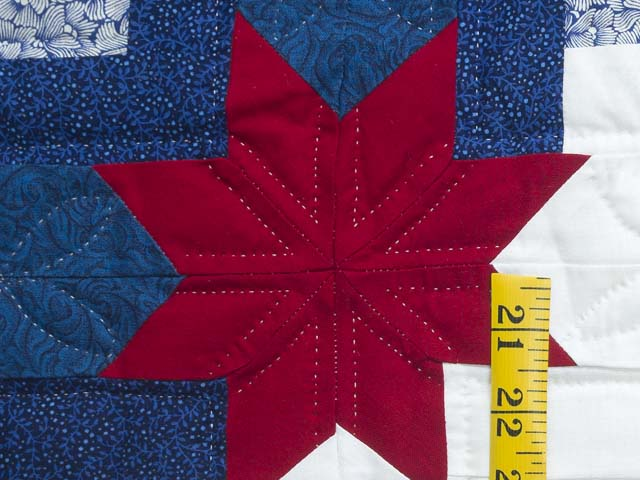 Red White and Blue Colorado Log Cabin Quilt Photo 5