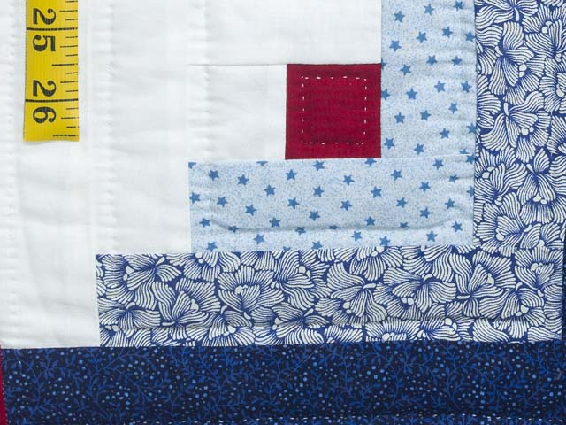 Red White and Blue Colorado Log Cabin Quilt Photo 6