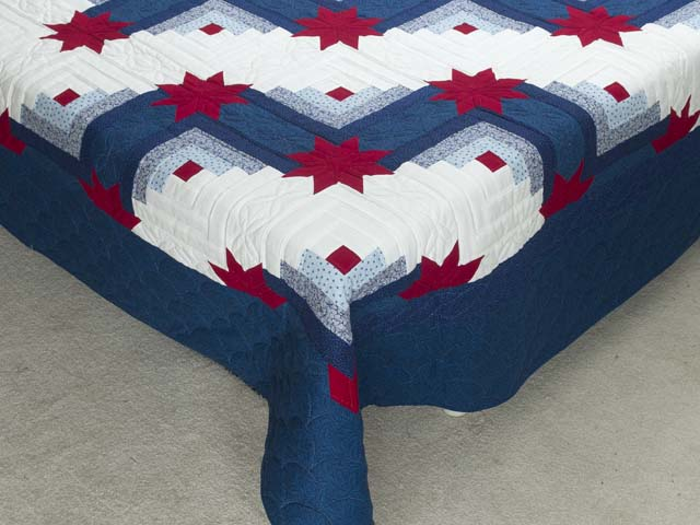 Red White and Blue Colorado Log Cabin Quilt Photo 7