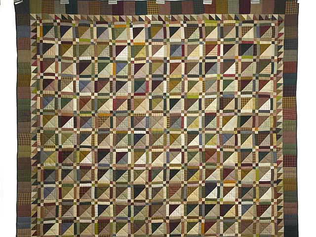 Plaid Earthtones Homespun Squares Quilt Photo 2