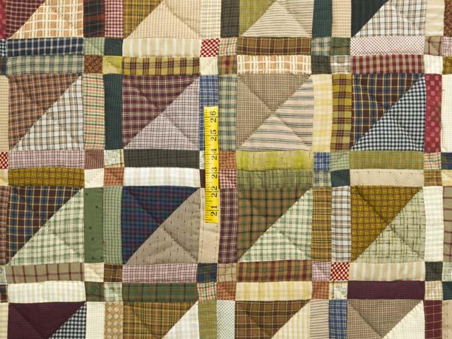 Plaid Earthtones Homespun Squares Quilt Photo 4