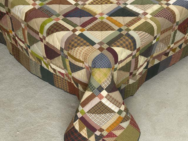 Plaid Earthtones Homespun Squares Quilt Photo 7