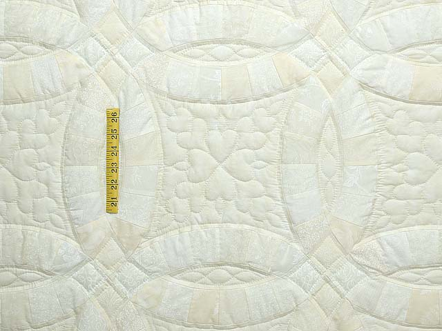 King All Neutrals Double Wedding Ring Quilt Photo 4