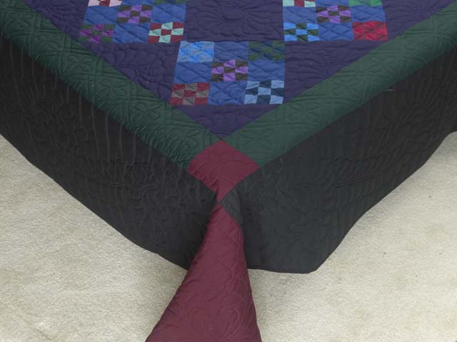 Amish Double Nine Patch Quilt Photo 7