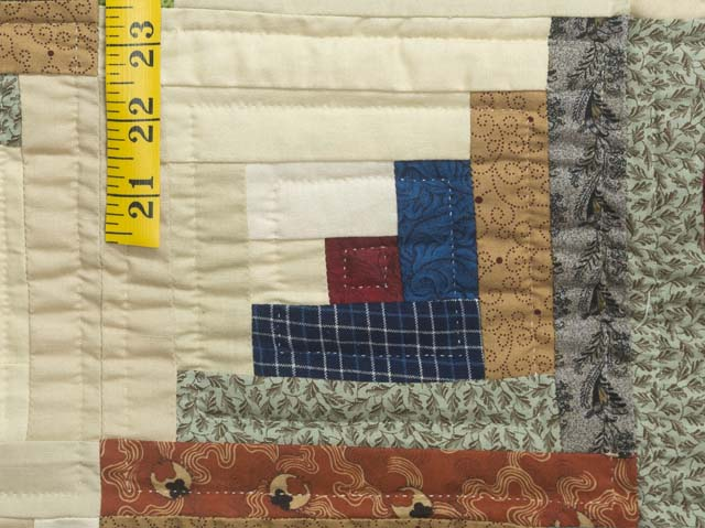 King Burgundy and Multicolor Bear Mountain Log Cabin Quilt Photo 6