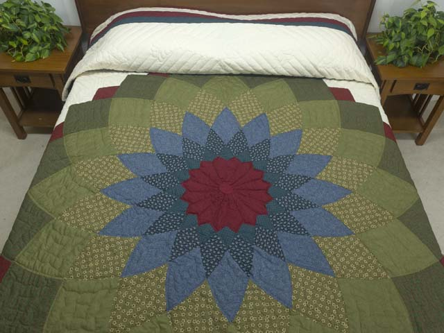 Multicolor Giant Dahlia Quilt Photo 1