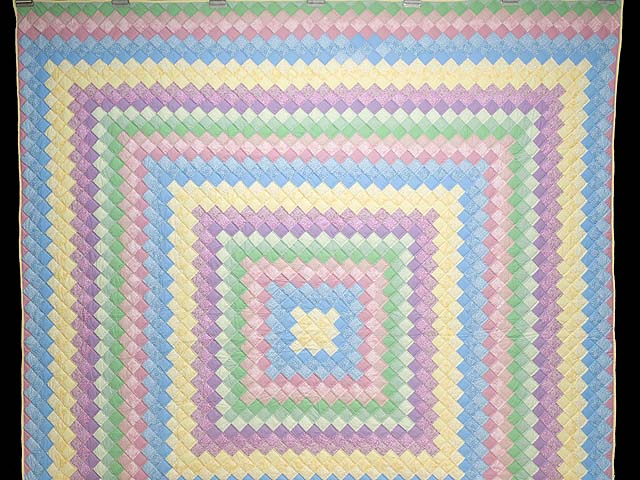 Pastel Multicolor Trip Around the World Quilt Photo 2