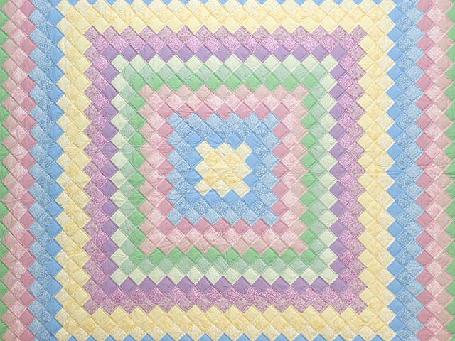 Pastel Multicolor Trip Around the World Quilt Photo 3