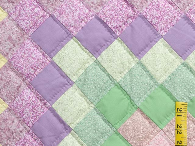 Pastel Multicolor Trip Around the World Quilt Photo 5