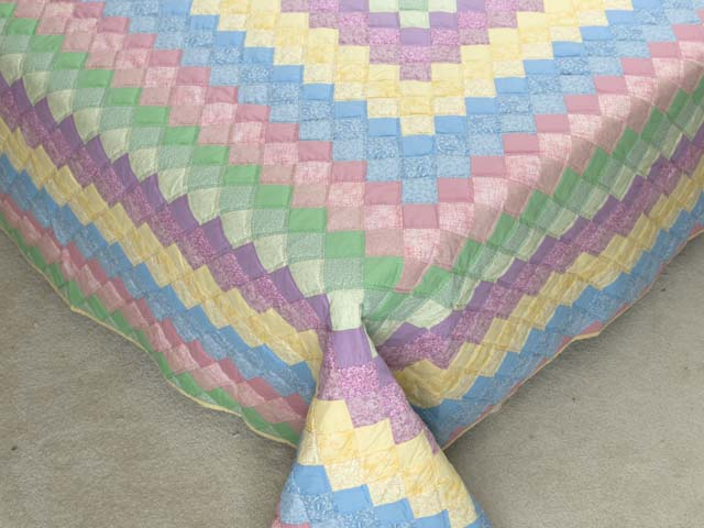 Pastel Multicolor Trip Around the World Quilt Photo 7