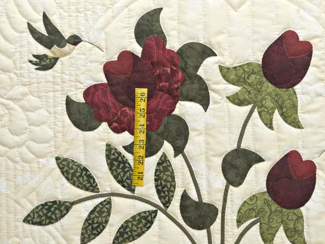 King  Burgundy  Green and Golden Cream Lancaster Treasures Quilt Photo 4