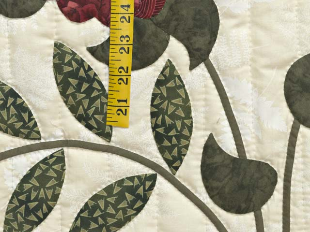 King  Burgundy  Green and Golden Cream Lancaster Treasures Quilt Photo 6