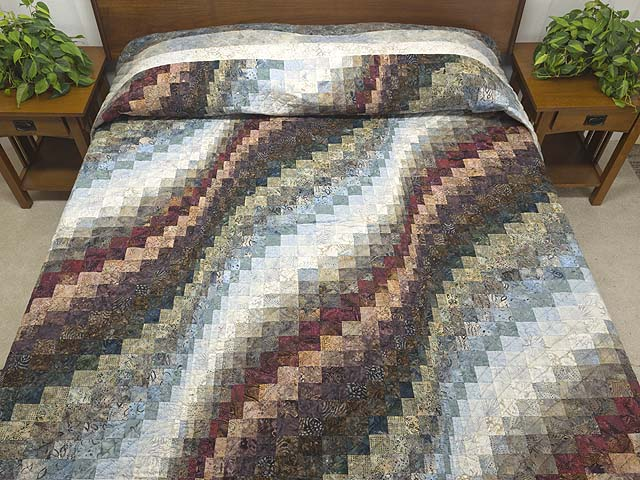 Hand Painted Bargello Wave Quilt Photo 1