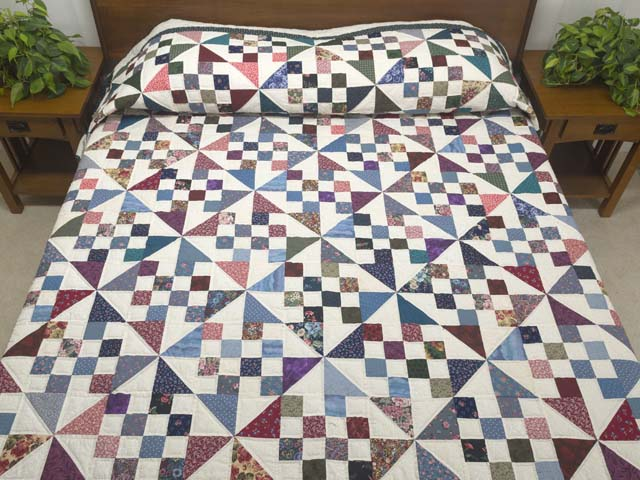 Country Colors Pinwheel Chain Quilt Photo 1