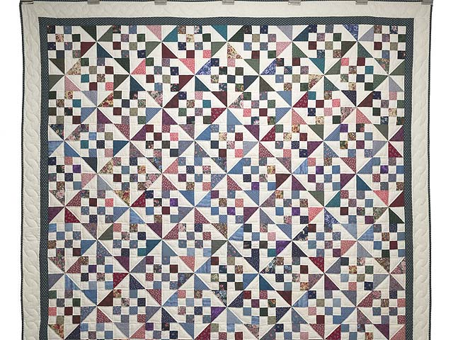Country Colors Pinwheel Chain Quilt Photo 2