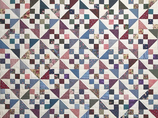 Country Colors Pinwheel Chain Quilt Photo 3