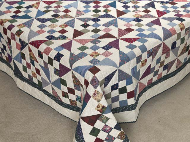 Country Colors Pinwheel Chain Quilt Photo 7