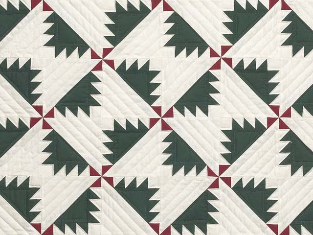 Green Red and Cream Sisterhood Quilt Photo 3
